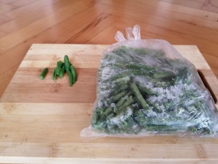 Fagyasztott zöldbab