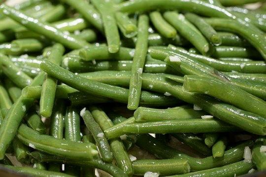 Párolt zöldbab