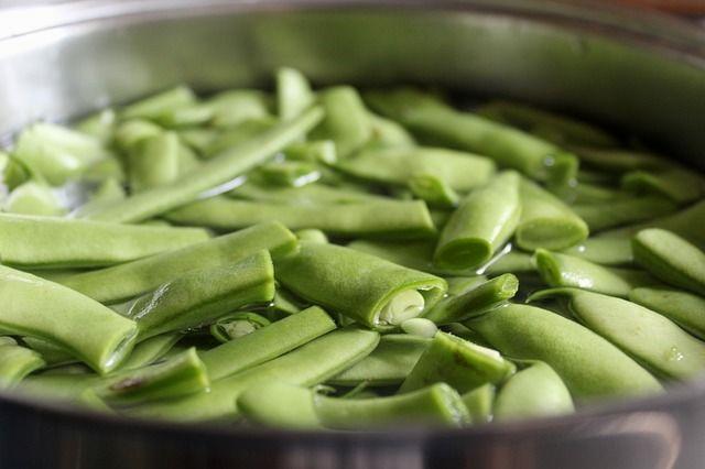 Zöldbab blansírozása